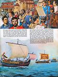 The Wonderful Story of Britain: Roman soldiers leave Britain aboard ship as townsfolk hear Imperial message
