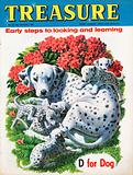 """""""D"""" for Dog shows Dalmation with puppies"""