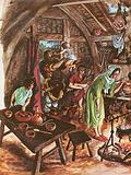 Inside a peasant's home