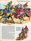 The Wonderful Story of Britain: Two knights charging in a tournament