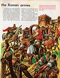 The Wonderful Story of Britain: Roman soldiers attack a fortified town