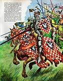 The Wonderful Story of Britain: Knights charging into battle
