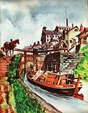 The Wonderful Story of Britain: Canal barge