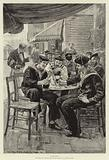 """""""Chums"""", English and French Sailors on leave at a French Port"""