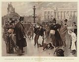 Youngsters at Play in Paris, an Improvised Rink in the Place de la Concorde