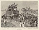 Heroic Deeds in the Matabele War, defending the Mail Coach from a Body of Kafirs on the Salisbury Road
