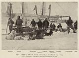 """The Start from the """"Fram,"""" 14 March 1895"""