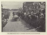 The Great Motor Race, M Girardot arriving at Aix-la-Chapelle