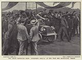 The Great Motor-Car Race, Fournier's arrival at the West End Racecourse, Berlin