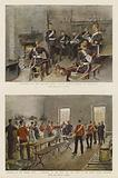 Sketches of the British Army, Royal Horse Guards in Barracks, Sketches of the British Army …