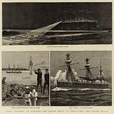 """H M S """"Nelson"""" at Torpedo and Other Drill, in Jervis Bay, New South Wales"""