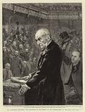 Mr Gladstone delivering the Peroration of his Speech on the Introduction of the Home Rule Bill