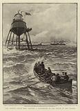 The Trinity House Ship visiting a Lighthouse in the Mouth of the Thames