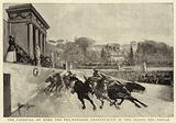 The Carnival at Rome, the Two wheeled Chariot-Race in the Piazza del Popolo