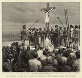 The Crucifixion, a Scene from a Passion Play performed by British Columbia Indians, near Vancouver