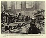 The Marquess of Salisbury's visit to Ulster, His Lordship addressing a meeting in Ulster Hall, Belfast