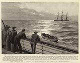 """The Rescue of a Crew in Mid-Atlantic by the S S """"Normannia"""""""