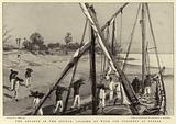 The advance in the Soudan, loading up Wood for Steamers at Berber