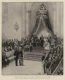 The Queen Regent opening the Spanish Cortes