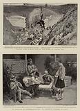 Making Good Damage done by the Boers at Laing's Nek, In Hospital at Pietermaritzburg, An Artist in Plaster of Paris