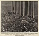 An Old Custom, reading the Royal Proclamation dissolving Parliament outside the Exchange