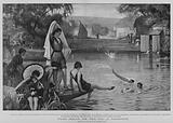 Water Frolics, the Weir Pool at Pangbourne