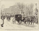 His Majesty the King's Arrival in London, entering Buckingham Gate