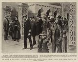 The Death of the Queen, Officers of the Royal Yachts leaving Osborne House after their Visit to the Death Chamber