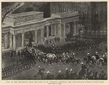 View of the Procession from the Roof of St George's Hospital, the Gun-Carriage entering Hyde Park