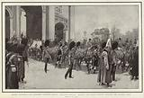 Queen Victoria's Last Progress through London, the Gun-Carriage bearing the Coffin passing through the Marble Arch