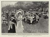 """The Queen's Tea"", Maids-of-all-Work being entertained at the Zoological Gardens"