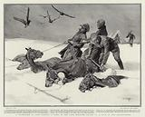 A Snowstorm in Cape Colony, a Camp of the Cape Mounted Rifles on a Spur of the Drakensberg