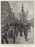 The Naval Detachment at the Head of the Procession in the Strand