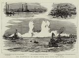 The Blowing-up of Flood Rock, Hell Gate, New York
