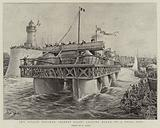 """The Roller Steamer """"Ernest Bazin"""" leaving Havre on a Trial Trip"""