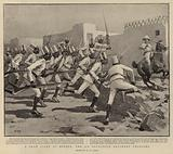 A Sham Fight at Berber, the 9th Soudanese Regiment charging