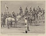 The Advance in the Soudan, the Sirdar reviewing the Garrison of Berber
