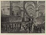 King George III visiting St Paul's after his Recovery from Illness, 23 April 1789