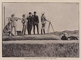 Practising with the Heliograph at the Fort