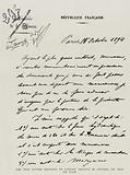 The Test Letter dictated to Captain Dreyfus by Colonel Du Paty de Clam