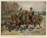 The 4th (Queen's Own) Hussars in Review Order, Reconnoitring
