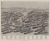The War, the Fleet of Steamers hired by the Government as Transports to convey the Troops to South Africa