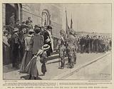 The 2nd Berkshire Regiment leaving its Colours with the Mayor of King William's Town before Leaving
