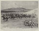 The Battle of Ladysmith, Artillery racing into Action to shell the Boers on Pepworth Hill