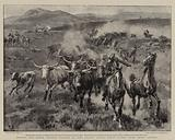 Dishing the Boers, British Farmers in Cape Colony saving their Cattle from being looted