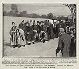 The Funeral of Lord Dufferin at Clandeboye, the Procession through the Grounds