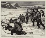 Austrian Troops practising on Snow-Shoes in the Alps