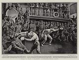 Sports on Board a Transport, a Blindfold Boxing Match