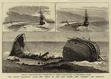 "The Recent Disastrous Gales, the Wreck of the Iron Sailing Ship ""Plassey"" off Sandgate"