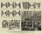 The Duke of Cambridge depositing the Colours of Seventeen Scottish Regiments in St Giles's High Church, Edinburgh
